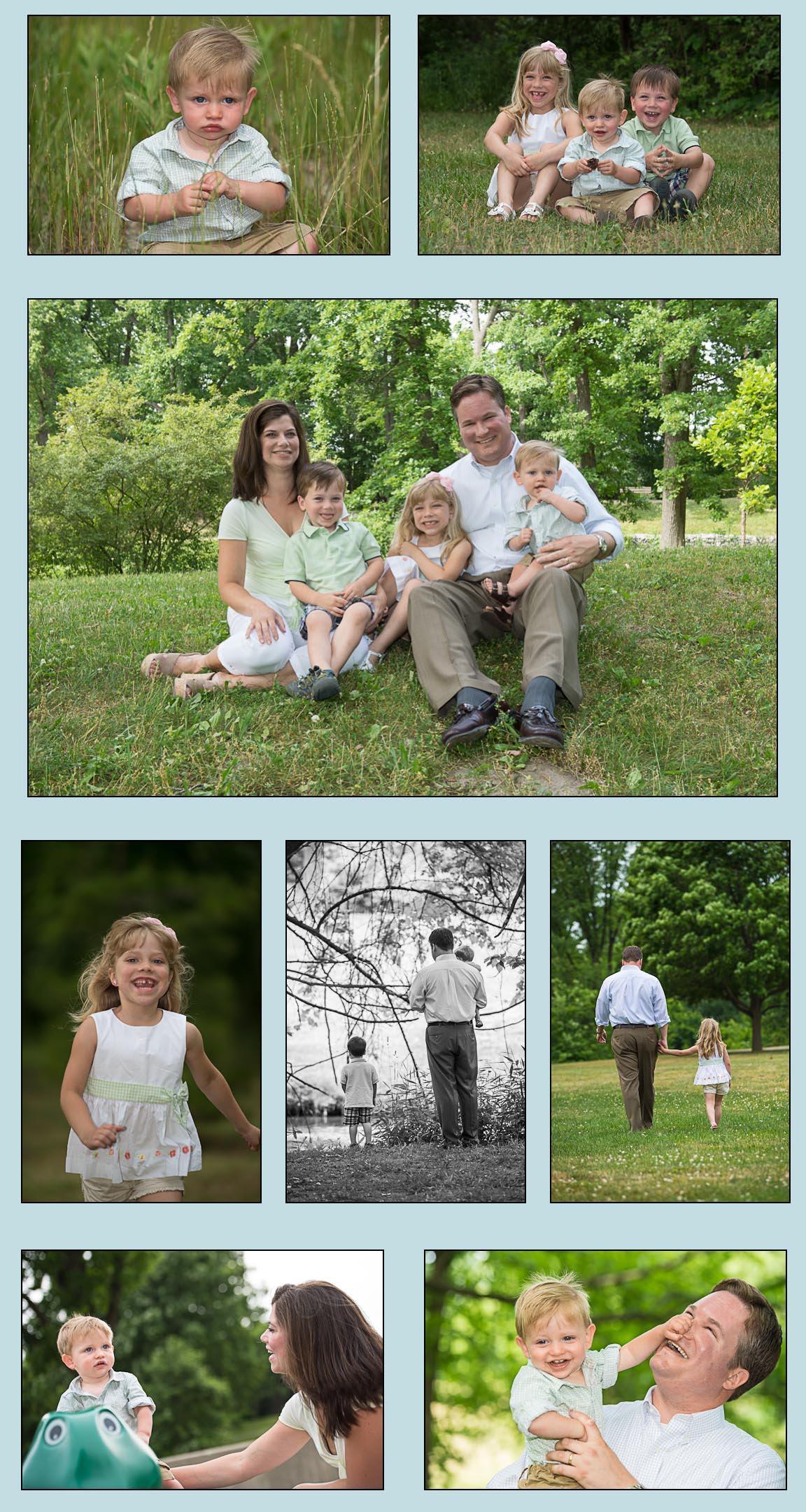 Family photos in the park, Location photography