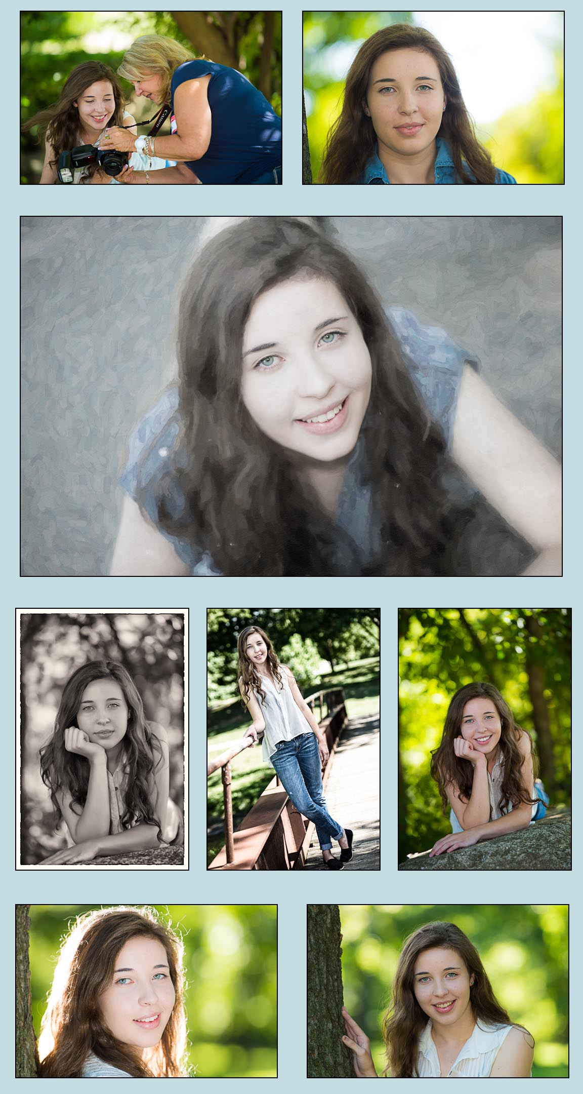 Robert DiTommaso Photography Portrait Workshop Collage