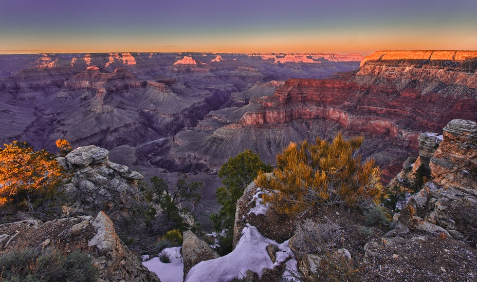 Grand Canyon as photographed during the Winter '11 Workshop