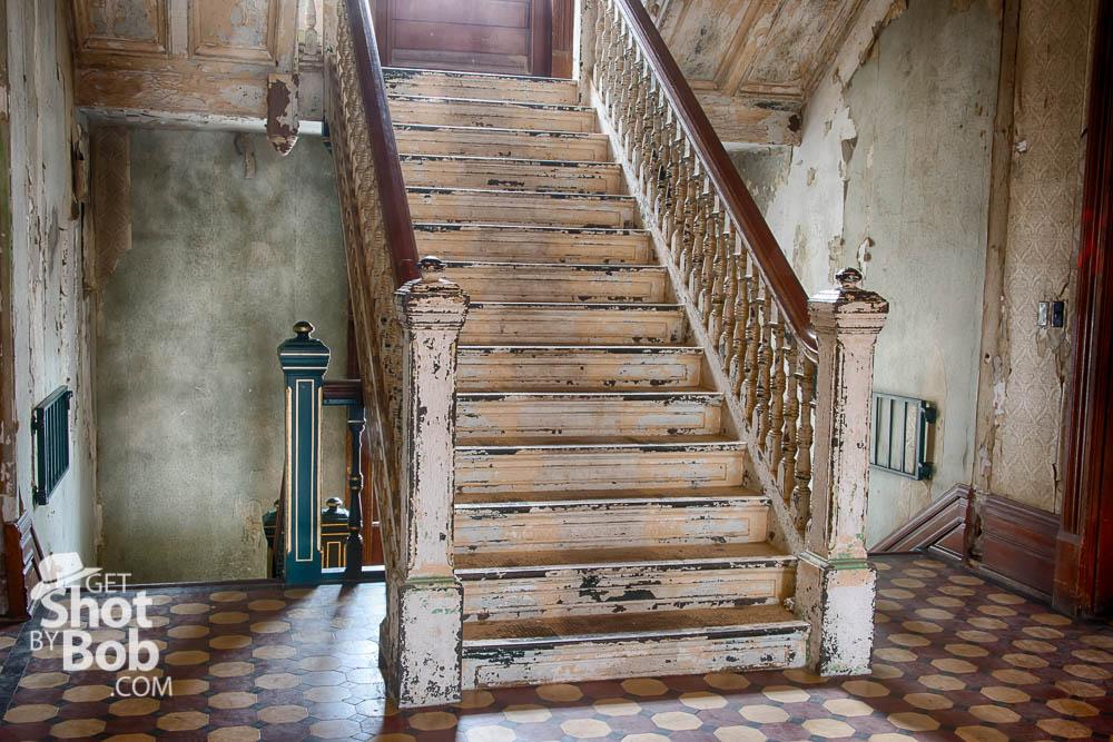 Ornamental metal stairway, HDR image