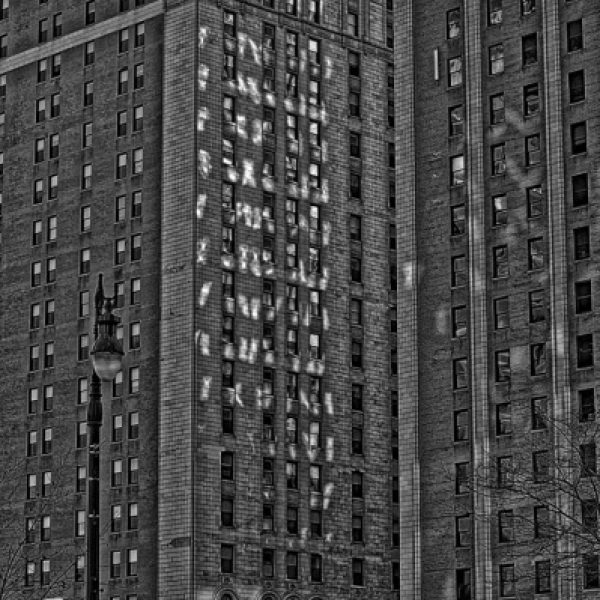 Detroit Architecture Captured in High Dynamic Range & Processed for B&W